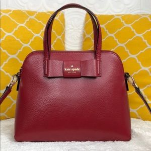 🌸OFFERS?🌸Kate Spade All Leather Red Satchel